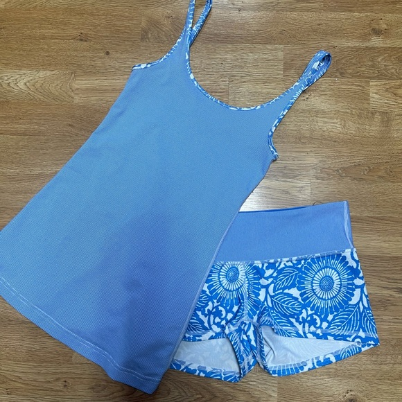Like new daily tank and boogie shorts lululemon